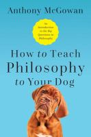 How to Teach Philosophy to your Dog
