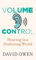 Media Cover for Volume Control: hearing in a deafening world