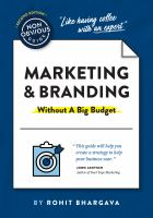 THE NON-OBVIOUS GUIDE TO MARKETING & BRANDING WITHOUT A BIG BUDGET--ON ORDER FOR HERRICK!
