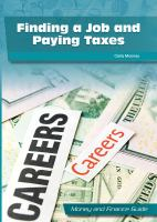 Finding A Job and Paying Taxes