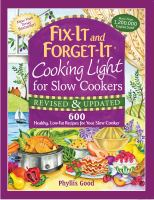 Fix-It and Forget-It : Cooking Light for Slow Cookers