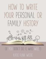 Image: How to Write your Personal or Family History