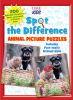 Spot the difference : animal picture puzzles.