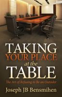 Taking your Place at the Table
