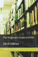 The Virginian's Guide to FOIA