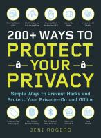 200+ Ways to Protect your Privacy
