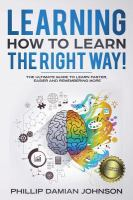 Learning How to Learn the Right Way!