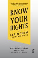 Know your Rights and Claim Them