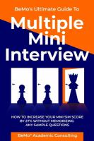 Multiple mini interview : how to increase your MMI score by 27% without memorizing any sample questions