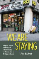 Cover of We are Staying: Eighty Yea