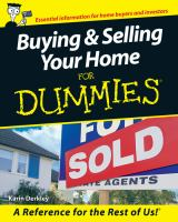 Buying & Selling your Home for Dummies