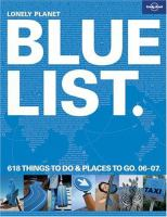 Lonely Planet Bluelist
