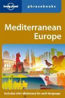 Mediterranean Europe Phrasebook