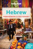 Hebrew Phrasebook and Dictionary
