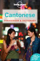 Cantonese Phrasebook & Dictionary