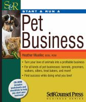 Start & Run A Pet Business