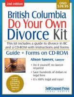 British Columbia Do your Own Divorce Kit