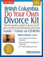 British Columbia Do your Own Divorce Kit