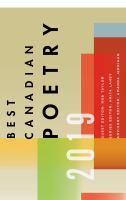 Best Canadian poetry. 2019