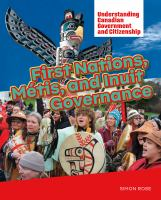 First Nations, Métis, and Inuit Governance