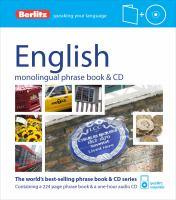 English Phrase Book & CD