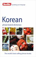 Korean phrase book & CD