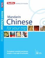 Mandarin Chinese for your Trip