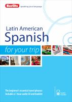 Latin American Spanish for your Trip