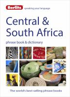 Central & South Africa Phrase Book & Dictionary