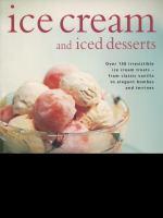 Ice Cream and Iced Desserts