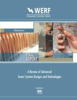 A Review of Advanced Sewer System Designs and Technologies