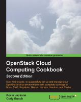 OpenStack Cloud Computing Cookbook