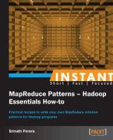 Instant MapReduce Patterns - Hadoop Essentials How-to