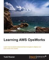Learning AWS OpsWorks