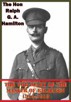 War Diary Of The Master Of Belhaven 1914-1918