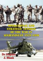 1979-1990 Operational and Strategic Lessons of the War in Afghanistan