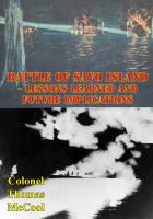 Battle of Savo Island - Lessons Learned and Future Implications