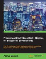 Production Ready OpenStack--recipes for Successful Environments