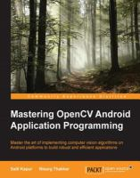 Mastering OpenCV Android Application Programming