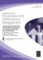 International Journal of Productivity and Performance Management