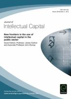 New Frontiers in the Use of Intellectual Capital in the Public Sector