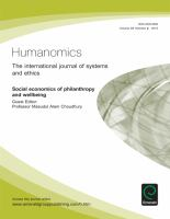 Social Economics of Philanthropy and Wellbeing