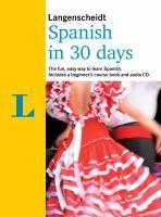Langenscheidt Spanish in 30 Days