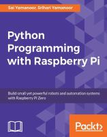 Python Programming With Raspberry Pi