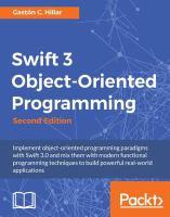 Swift 3 Object-oriented Programming