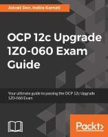 OCP 12c Upgrade Exam 1Z0-060 Exam Guide