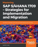 Mastering SAP S/4HANA 1709