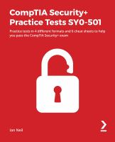 CompTIA Security+ Practice Tests SY0-501