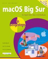 MacOS Big Sur in Easy Steps
