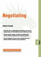 Negotiating (ExpressExec Leading ; 08.05)